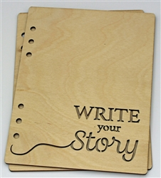 Write your Story 6X8 Wood Album