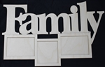 "Family 1/8"" Birch Wood Frame"
