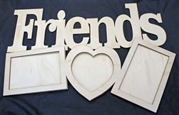 "Friends 1/8"" Birch Wood Frame"