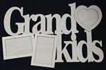 "Grandkids 1/8"" Birch Wood Frame"