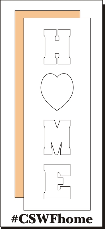 HOME Word Frame (vertical)