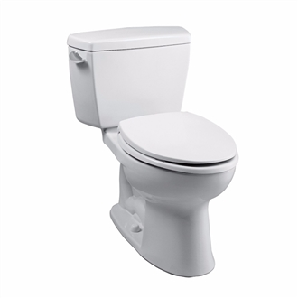 Eco Drake® Two-Piece Toilet, 1.28 GPF, ADA Compliant, Elongated Bowl