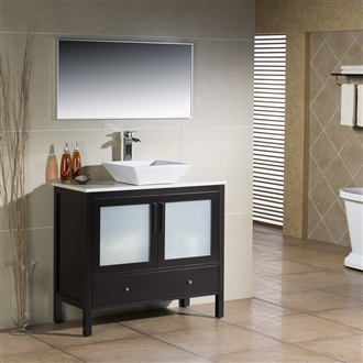 Vanity Fulton 40 with Vessel Sink
