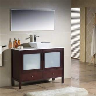 Vanity Fulton 48 with Vessel Sink