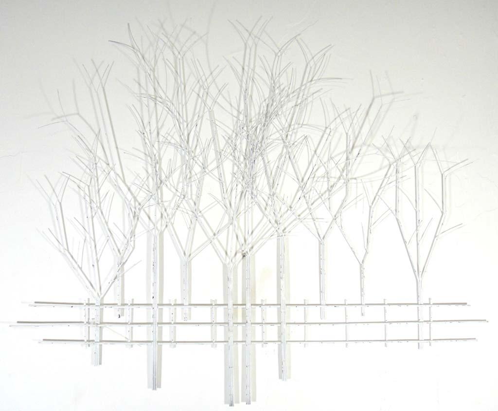 sk  : tree scene metal wall art