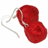 Earrings Yarn Ball Red