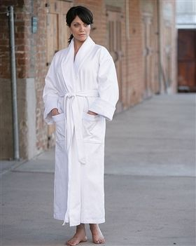 diamond jacquard minx lined robe
