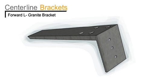 Countertop L Bracket : Forward L Bracket Long for mounting granite countertops to cabinets or ...