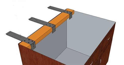 Forward l bracket long for mounting granite countertops to for Granite overhang without support