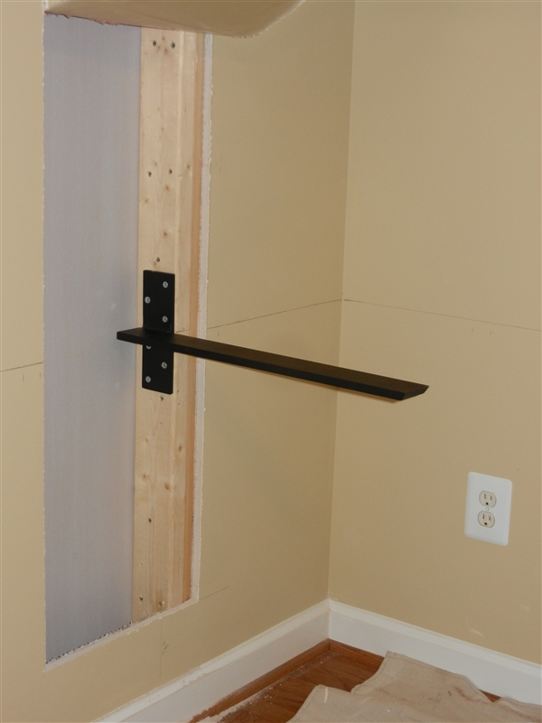 Countertop Support Bracket For Floating Granite Floating Inside Wall Mount Hidden