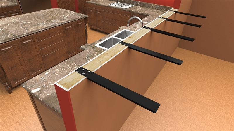 Hidden Countertop Supports And Brackets Standard Plus