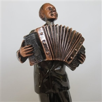 Accordion Player Bronze Finish