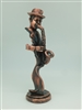 Saxophone Player Bronze finish -12 inches
