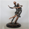 Dancer couple 1 Bronze finish - 13 inches