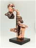 Saxophone Player Bronze finish -14 inches