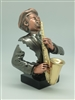 Saxophone Player Bronze finish -11 inches
