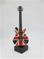 Guitar - Electric British Flag on stand - 9 inches