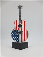 Guitar - Acoustic USA Flag on stand - 9 inches