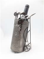 Golf Bag with Wheels - Metal Wine Holder