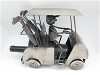 Golf Cart - Metal Wine Holder with Driver