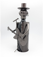 Guitar Singer - Metal Wine Holder - 13 inches
