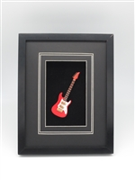 Guitar - Red Electric Magnet Guitar on a frame