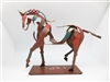 Horse - Hand crafted & hand painted metal horse sculpture - 13 Inches