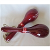 Burgandy Color Wood Handle Maracas