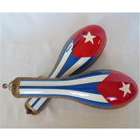 All Rawhide Cuban Flag Maracas