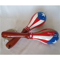 Puerto Rico Flag Wood Handle