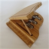 Piano cutting board with knives set