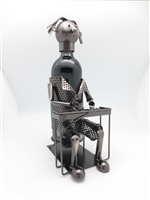 Pianist - Metal Wine Holder - 12 inches