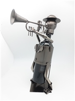 Trumpeter - Metal Wine Holder - 13 inches
