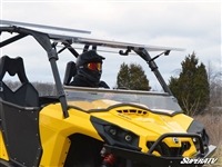 Can-Am Commander Scratch Resistant Flip Windshield Window - SuperATV
