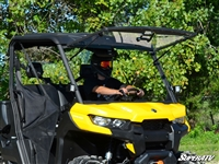 Can-Am Defender Scratch Resistant Flip Window Windshield by SuperATV