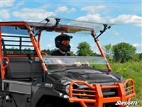 Kawasaki Mule PRO FX, DX, FXT, DXT Flip Up Scratch Resistant Windshield SuperATV