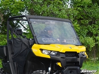 Can-Am Defender Scratch Resistant Vented Full Window Windshield by SuperATV
