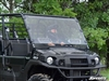 Kawasaki Mule PRO FX, DX, FXT, DXT Vented Full Scratch Resistant Windshield SuperATV