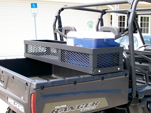 Alpine Super Rack as well Aluminum High Seat further Collecting Sweeper Rotary Broom furthermore Front Rack moreover Quadrax roof rack polaris rzr. on utv roof basket