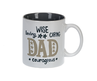 Mug - Dad - Wise, Loving, Caring, Courageous