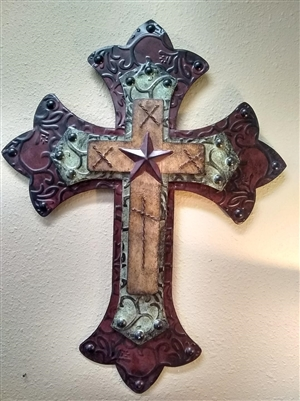 Layered Metal Cross