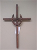 Rustic Metal Horseshoe Cross