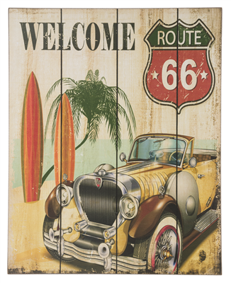 Wall Plaque - Route 66/ Welcome to California