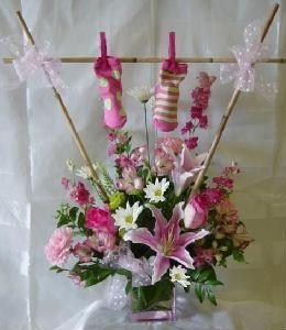 Baby Girl Clothesline Bouquet