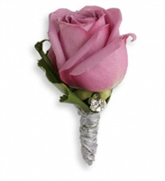 Roses and Ribbons Boutonniere