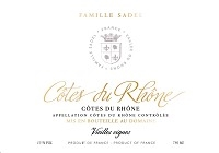 Famille Sadel Cotes du Rhone Blanc 2017 (Rhone Valley, France) (750ml)