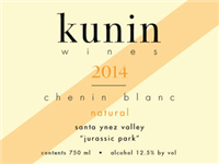 Kunin Santa Ynez Valley Chenin Blanc Natural Jurassic Park 2015 (California, United States) (750ml)