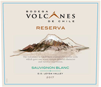 Bodega Volcanes de Chile Sauvignon Blanc Reserva Leyda Valley 2018 (Central Valley, Chile) (750ml)