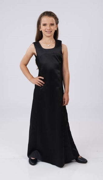 Penelope Sleeveless Satin Scoop Neckline-Youth