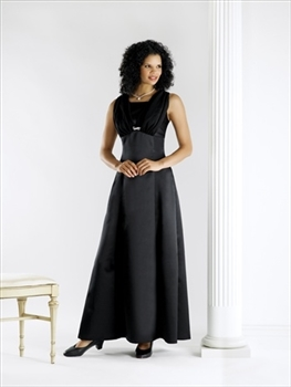 Satin Empire Waist with Chiffon Overlay